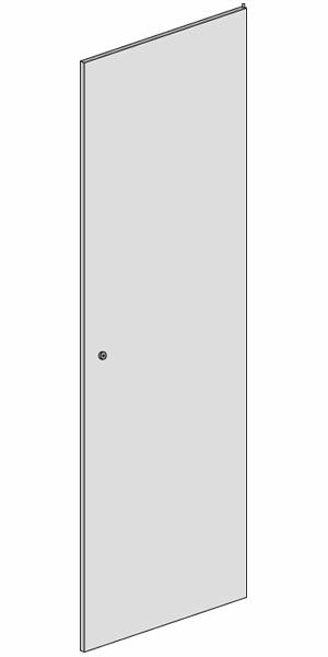 Porte simple avant arrire pleine 42u 800 pour baie serveur for Porte simple