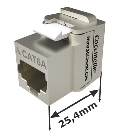 connecteur rj45 cat 6a jack keystone coccinelle one. Black Bedroom Furniture Sets. Home Design Ideas